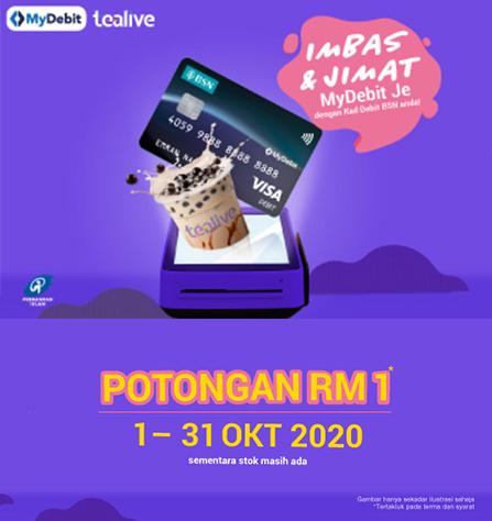 Imbas Dengan Kad Debit Bsn Anda Di Tealive Dan Nikmati Potongan Rm1 Bsn Malaysia